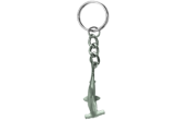 Pewter Hammerhead Keychain - Product Image