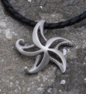 Pewter Starfish Necklace - Product Image