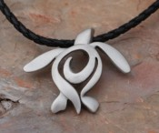 Pewter Turtle Necklace - Product Image