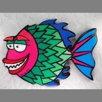 Pink Fish Wall Art - Product Image