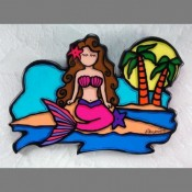 Pink Mermaid Wall Art - Product Image