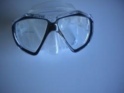 "Piranha Fish Eyes Mask     "" Black Frame/ Clear Skirt""    ""Accepts Lenses"" - Product Image"
