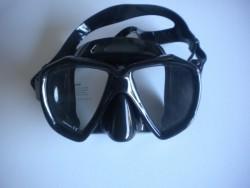 "Piranha Fish Eyes Mask     "" Black Frame/Black Skirt""    ""Accepts Lenses"" - Product Image"