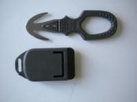 "Piranha Hammerhead Dual Blade Line Cutter ""Grey""  W/ Shealth - Product Image"