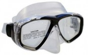 "Piranha Sea Viewer Dive Mask     "" Black Frame / Clear Skirt    ""Accepts Lenses"" - Product Image"