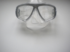 "Piranha Sea Viewer Dive Mask     "" Titanium Frame / Clear Skirt    ""Accepts Lenses"" - Product Image"