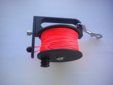 "Piranha Sidewinder Reel 400ft ""Orange Line"" - Product Image"