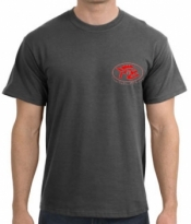 Piranha T-Shirt  Dark Heather T-Shirt w/ Red Logo  - Product Image
