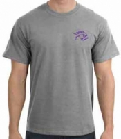 "Piranha T-Shirt  Sport Grey w/ Purple Logo ""  - Product Image"
