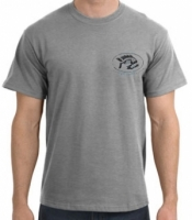 Piranha T-Shirt  Sports Grey T-Shirt w/ Black Logo - Product Image