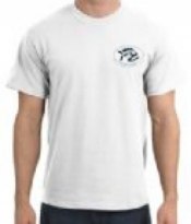Piranha T-Shirt  White T-Shirt w/ BLACK Logo  - Product Image