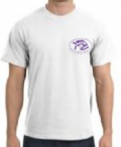 Piranha T-Shirt  White T-Shirt w/ Purple Logo - Product Image