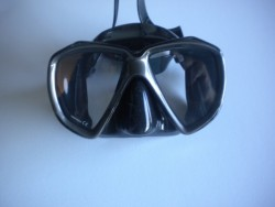 "Piranha Fish Eyes Mask     ""Titanium/Black Frame/Black Skirt""    ""Accepts Lenses"" - Product Image"