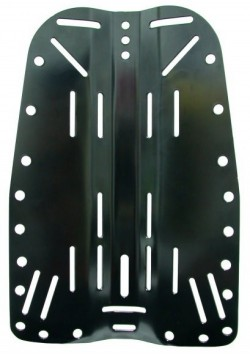 "Piranha's Aluminum BLACK Backplate ""Only 3 at this price!"" - Product Image"
