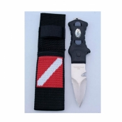 Pointed Tip Knife w/Nylon Webbing Sheath   - Product Image