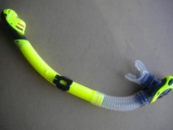 Close-Out 2 Only! Pro Blue Semi-Dry Snorkel  Yellow/ Black trim - Product Image