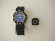 RAM Stainless Case & BLUE Inner Face Dive Watch with Compass ..... One Left! - Product Image