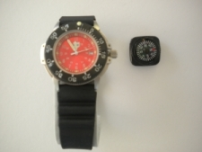 RAM Stainless Case & RED Inner Face Dive Watch with Compass ..... One Left! - Product Image
