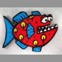 Red Fish Wall Art - Product Image