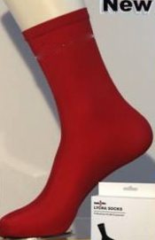 "Red Lycra Socks  ""Pair"" - Product Image"