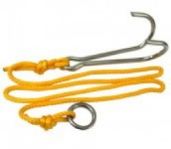 "Reef Hook ""Double Hook"" w/ Stainless Steel 1"" Ring - Product Image"