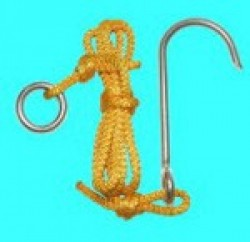 "Reef Hook ""Single Hook"" w/ Stainless Steel Snap - Product Image"