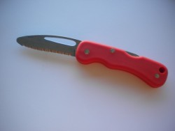 "Rescue Folding Knife "" Red Handle"" ""1 Only!"" - Product Image"