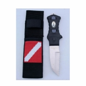 Scalloped Tip Knife w/Nylon Webbing Sheath   - Product Image