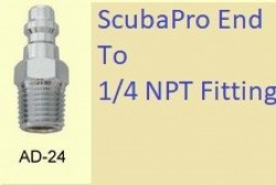 """ScubaPro Bc End to 1/4"""" NPT Thread End - Product Image"""