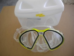 "Seac Sub X-One Mask Yellow frame / Clear Skirt ""1 ONLY!"" - Product Image"