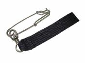 Shark Clip w/ Swivel & 1 inch BLACK Webbing - Product Image