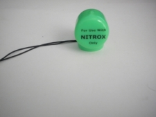 "Soft Valve Cap vinyl  ""GREEN"" W/ Nitrox only printing - Product Image"