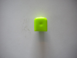 "Soft Valve Cap vinyl  ""High Viz Neon Green"" - Product Image"