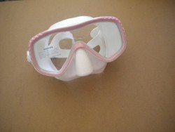 "Special! EDGE Manta Single Vision Mask  ""Pink Frame / Clear Skirt  - Product Image"