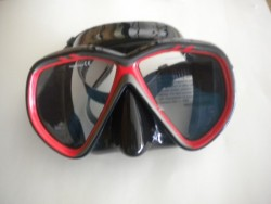 "Spider Eye Mask w/ Hard Plastic Case Black-Red Trim / Black Skirt ""1 Only"" - Product Image"
