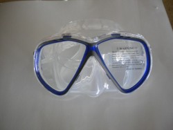 "Spider Eye Mask w/ Hard Plastic Case Blue Trim / Clear Skirt ""1 Only"" - Product Image"
