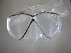 "Spider Eye Mask w/ Hard Plastic Case Grey Trim / Clear Skirt ""1 Only"" - Product Image"