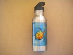 """Stainless Steel Water Bottle Turtle Design """"1 Only"""" - Product Image"""