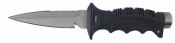 Sword Designed Tip Stainless Steel Leg Knife   Black Handle/Black Shealth - Product Image