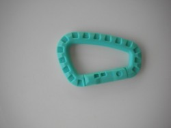 "Tactical Carabiner ""Aqua Blue / Acid Blue"" - Product Image"