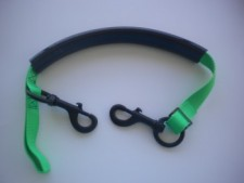 "Tec Stage Strap "" Green Webbing w/ BLACK Hardware"" - Product Image"