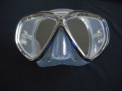 Tiara 2 Mask  Metal Navy Blue w/Clear Silicone Skirt - Product Image