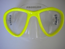Look Mask Neon Yellow w/Clear Silicone skirt - Product Image