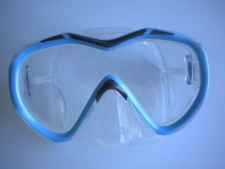 Tiara 2 Pro Series Mask  Soft Blue w/Clear Silicone skirt - Product Image