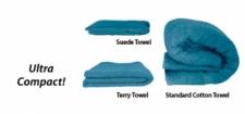 "Ultra Compact Khaki Microfiber Towel  ""Octopus Design"" - Product Image"