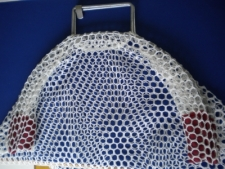 Wired Handle COMMERCIAL Type Mesh Bag  Large      WHITE Mesh - Product Image