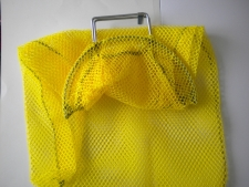 Wired Handle Mesh Bag  Medium      YELLOW Mesh No D-Ring - Product Image