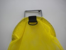 Wired Handle Mesh Bag  Medium      YELLOW Mesh w/ Plastic D-Ring - Product Image